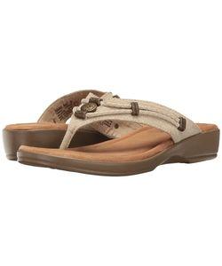 Minnetonka | Scandia Natural Linen Womens Shoes