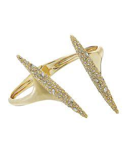 Alexis Bittar   Crystal Encrusted Modernist Spear Hinge Bracelet 10k