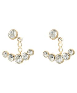 Kenneth Jay Lane | Faceted Crystal Post Ear Jacket Earrings Crystal