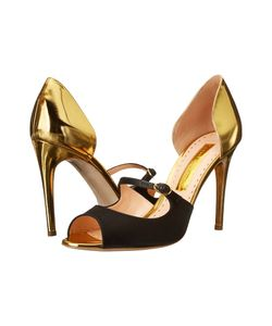 Rupert Sanderson | Dorsee Mary Jane Specchio Leather/ Satin High
