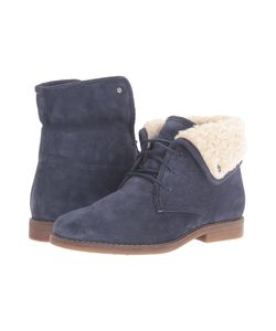 Hush Puppies   Marthe Cayto Navy Suede Womens Pull-On Boots