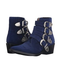 Toga Pulla | Aj006 Navy Suede Womens Shoes
