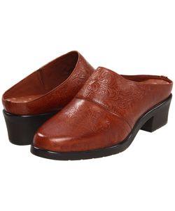 Walking Cradles | Caden Tan Tooled Leather Clog Shoes