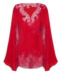 AGENT PROVOCATEUR | Celeste Short Kimono Red