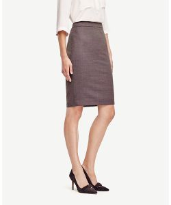 Ann Taylor   Birdseye Tropical Wool Pencil Skirt
