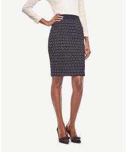 Ann Taylor | Petite Geo Tweed Pencil Skirt