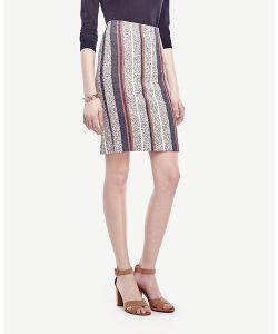 Ann Taylor | Racer Stripe Tweed Pencil Skirt