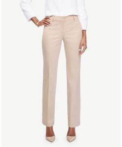 Ann Taylor | Petite Ann Cotton Sateen Straight Leg Pants