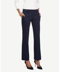 Ann Taylor | Petite Devin Cotton Sateen Straight Leg Pants