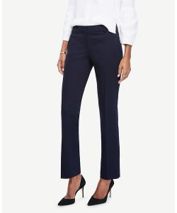 Ann Taylor | Petite Kate Sateen Straight Leg Pants