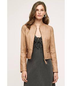 Hei Hei   Dakota Vegan Leather Jacket Brown