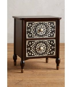 Anthropologie | Tapestry Inlay Bedside Table