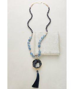 Anthropologie | Tasseled Agate Lariat Necklace