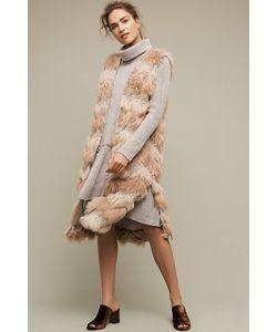 Hei Hei   Chevron Faux Fur Waistcoat