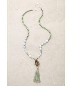 Anthropologie | Tasselled Agate Lariat Necklace