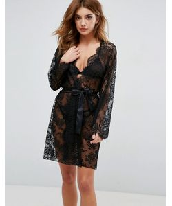 ASOS | Lace Robe With Scallop Edge