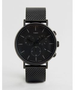Timex   Fairfield Chronograph 41mm Mesh Watch In Ip