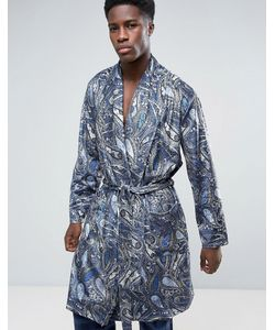 ASOS | Velour Robe In Paisley Print