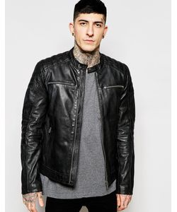 Goosecraft | Leather Biker Jacket In Black