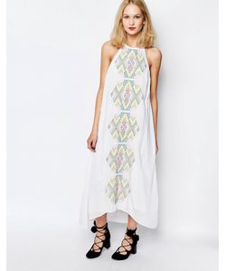 Piper | Bima Embroidered Maxi Dress