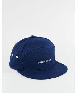 Herschel Supply Co. | Foster Cap In Navy Melton Wool