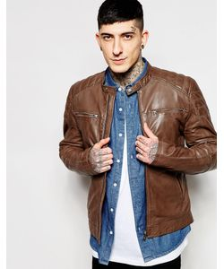Goosecraft | Leather Biker Jacket In Brown
