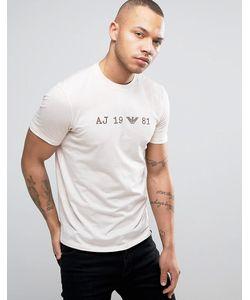 Armani Jeans | Date Logo T-Shirt Regular Fit Acid Wash In
