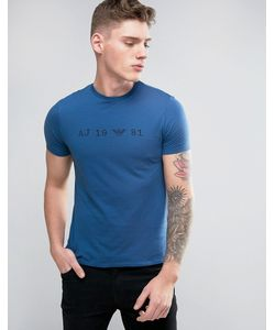 Armani Jeans | Date Logo T-Shirt Regular Fit Acid Wash In