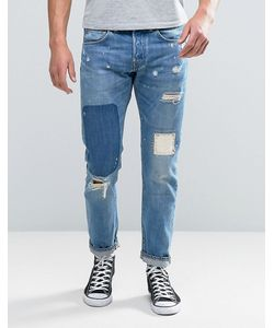 Edwin | Ed-55 Regular Tapered Jean Pulled Wash Rainbow Selvage Rip And