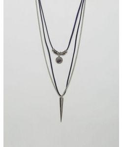 Aldo | Faux Suede Chain Necklace