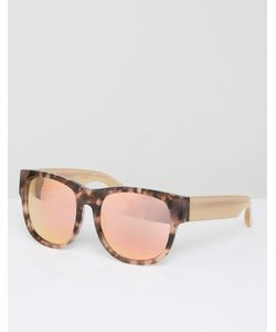 Matthew Williamson | Tortoiseshell Square Sunglasses With Pearly Peach Tinted Lens