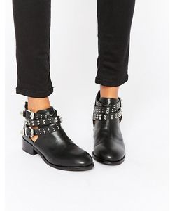 London Rebel | Buckle Strap Ankle Boots Pu