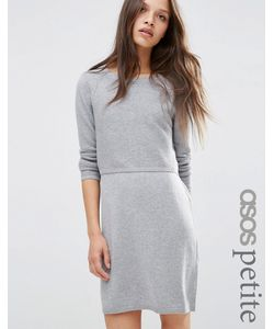 ASOS Petite   2 In 1 Knit Dress In Cashmere Mix