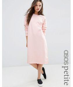 ASOS Petite   Oversized Sweat Dress Nude