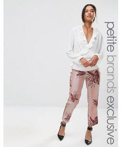 Alter Petite | Stripe Floral Printed Cigarette Pyjama Trouser