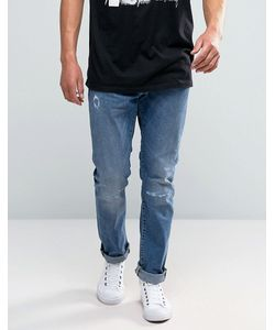 Edwin | Ed-55 Tapered Jeans With Distressing Broken Wash