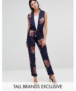 Alter Tall | Oriental Floral Print Pyjama Trouser