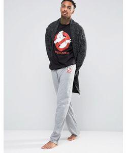 ASOS | Halloween Pyjama Bottoms With Ghostbuster Print Marl