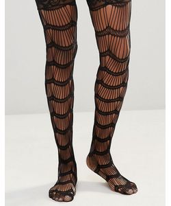 Leg Avenue | Scalloped Eyelash Stay Up Stockings