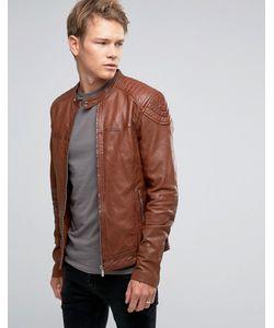 Goosecraft | Leather Biker Jacket In Timber