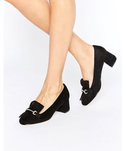 Truffle Collection   Truffle Fringe Mid Heel Loafer Micro