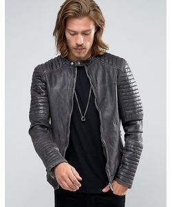 Goosecraft | Leather Biker Jacket Quilt Arms In
