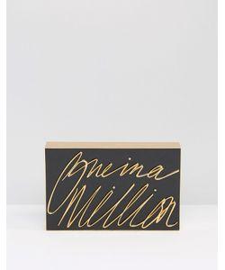 Lulu Guinness   One In A Million 3-D Clutch Bag /Gold