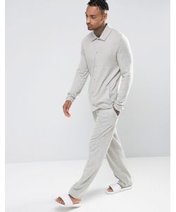 ASOS | Straight Pyjama Bottoms In Brushed Woven Texture