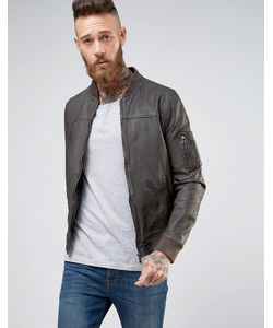 Goosecraft | Leather Bomber Jacket In