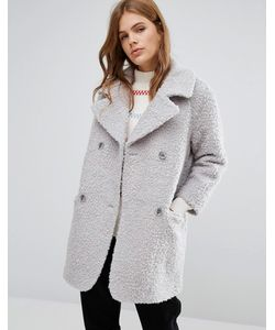 YMC | Fluffy Double Breasted Cocoon Coat