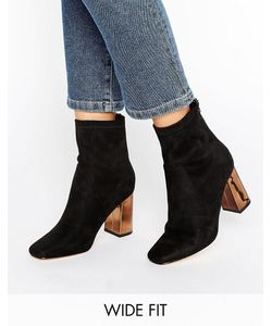 Truffle Collection   Truffle Wide Fit Ankle Boot Mf/Copper Heel