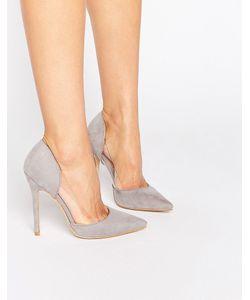 Public Desire   Keeley Clear Detail Court Shoes Mf