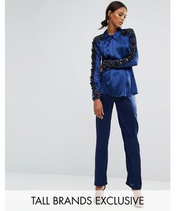 Starry Eyed Tall | Satin Pyjama Trouser