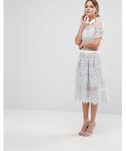 Chi Chi London | Premium Lace Skirt Co-Ord